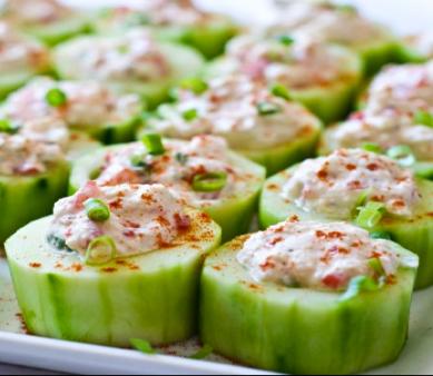 peanut salad sesame cucumber salad shrimp salad on cucumber slices