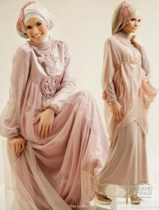 Gamis Dan Gaun Busana Muslim Pesta Model Trend Terbaru