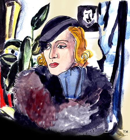 Portrait de Tamara De Lempicka par Yukié Matsushita
