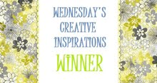 Winner at  Wednesdays Creative Inspirations