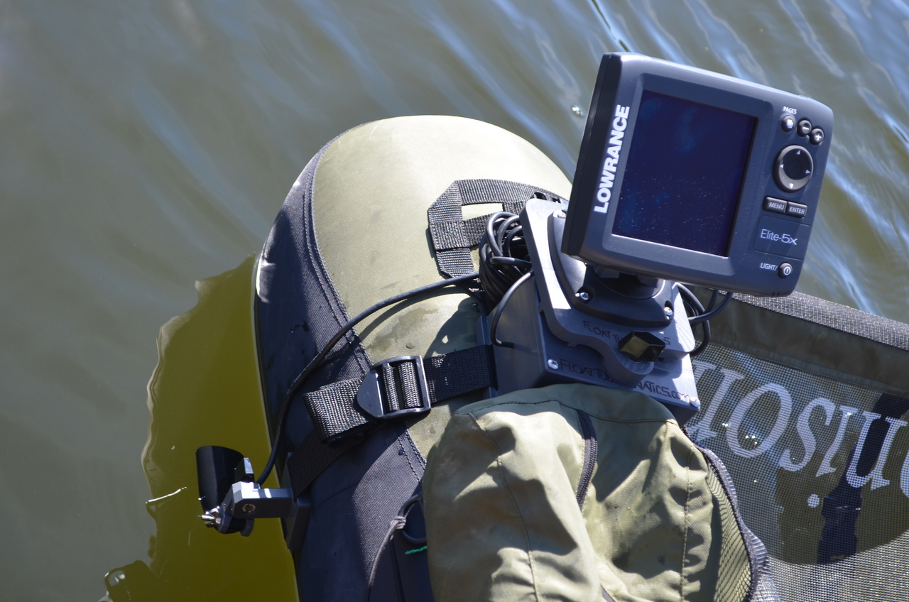 Fish finder and transducer mounting solutions new website for Float tube fish finder