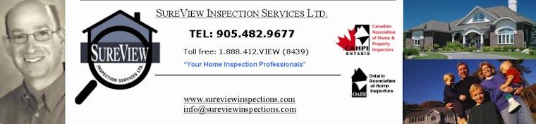 SureView Home Inspections-Home Inspector-Oakville Burlington Milton Hamilton Mississauga