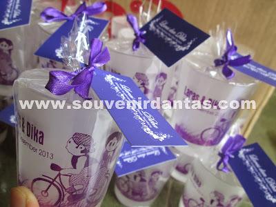 souvenir gelas sablon cantik
