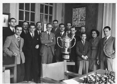 Equipo del Club Ajedrez Barcelona en 1948