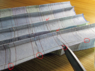 clipping the middle scrap grid interfacing