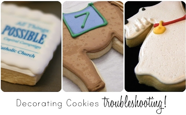 cookie decorating troubleshooting from bake at 350