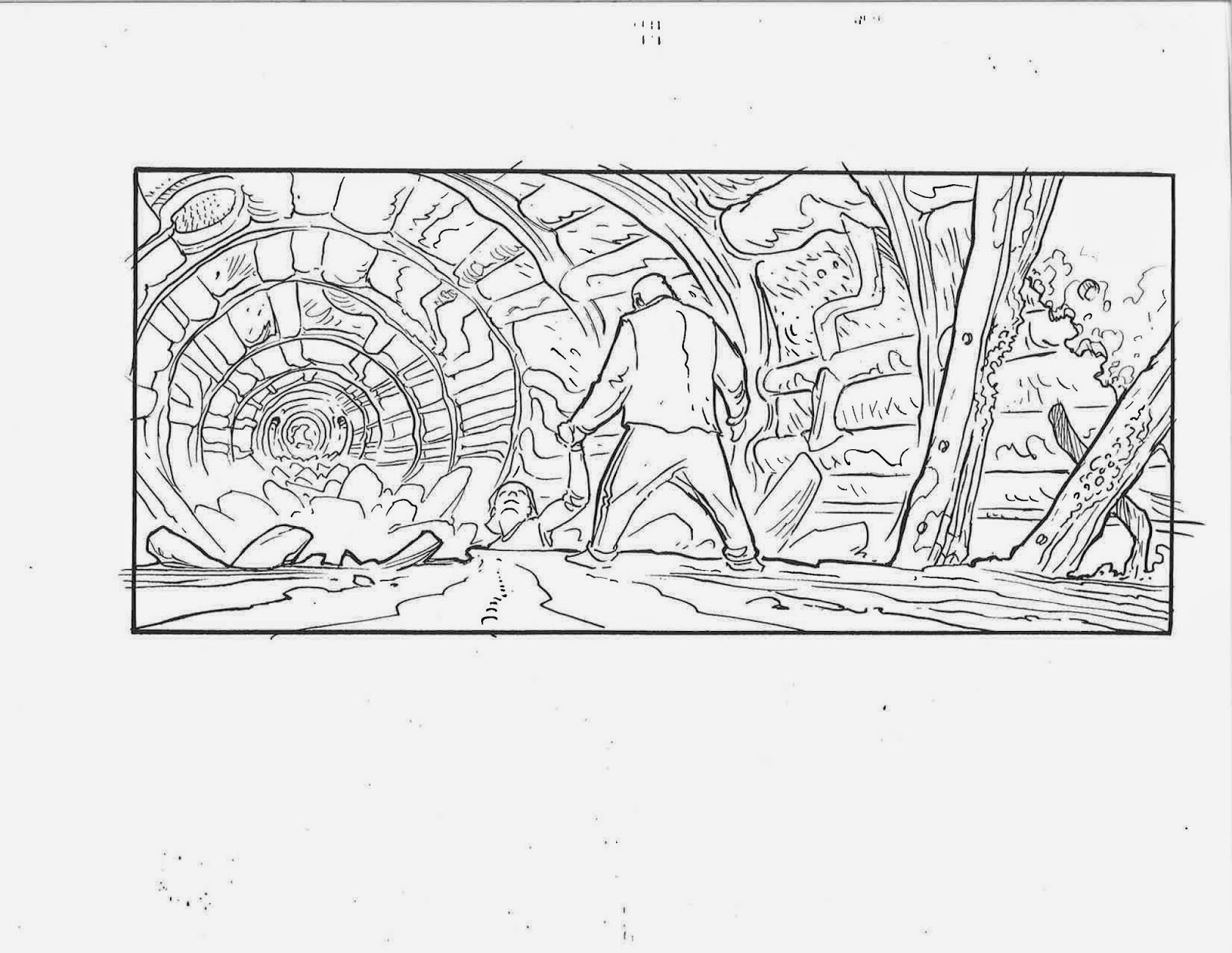 ricardo delgado u0026 39 s blog  matrix storyboards  neo in the tunnels 02