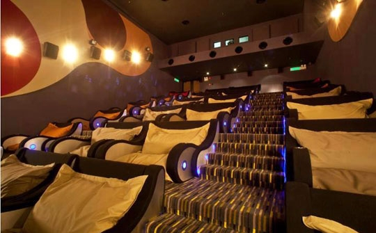 WORLD'S MOST COMFORTABLE MOVIE THEATER