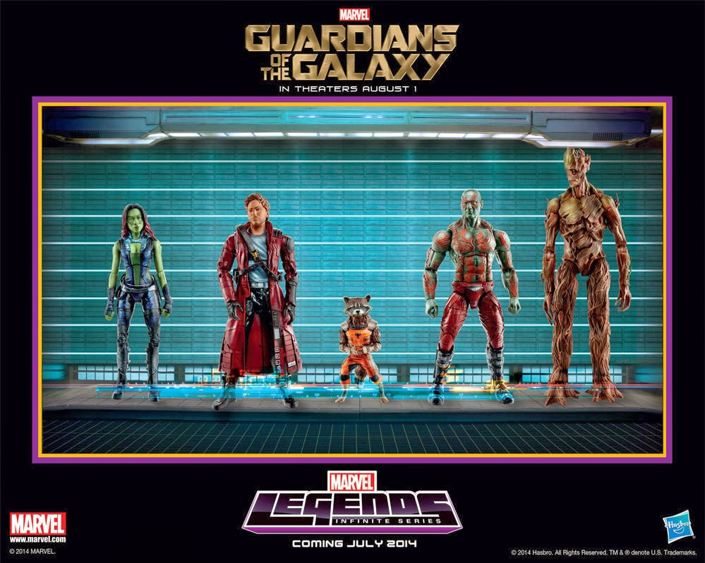 Toy Fair 2014 Exclusive Guardians of the Galaxy Marvel Legends Infinite Series Action Figure Poster by Hasbro