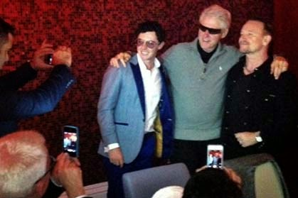 Rory McIroy, Bill Clinton and Bono snapped in Dublin
