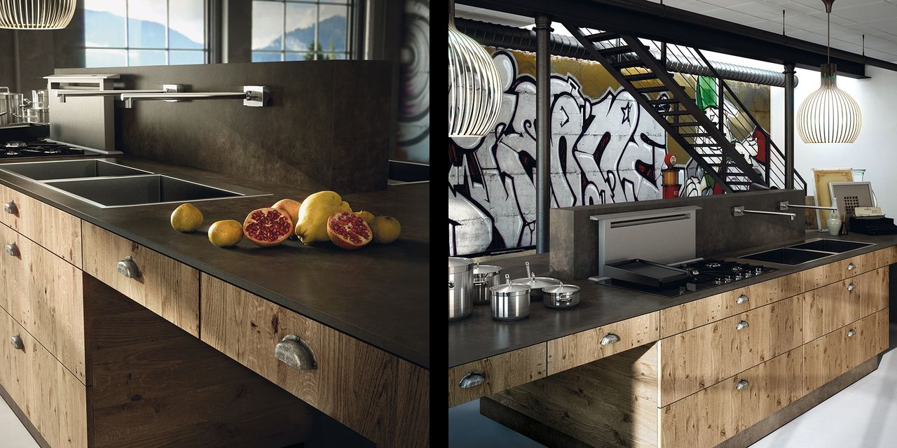 Super Cuisine design en bois contemporain XV01
