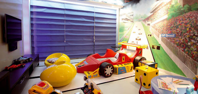 Quarto da Criança DORMITORIO PARA NIÑOS QUE GUSTAN DE  AUTOS DE CARRERA by dormitorios.blogspot.com