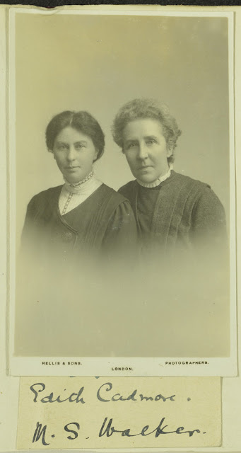 Edith Cadmore and Margaret S. Walker. From Geologists' Association 'Carreck Archive'.