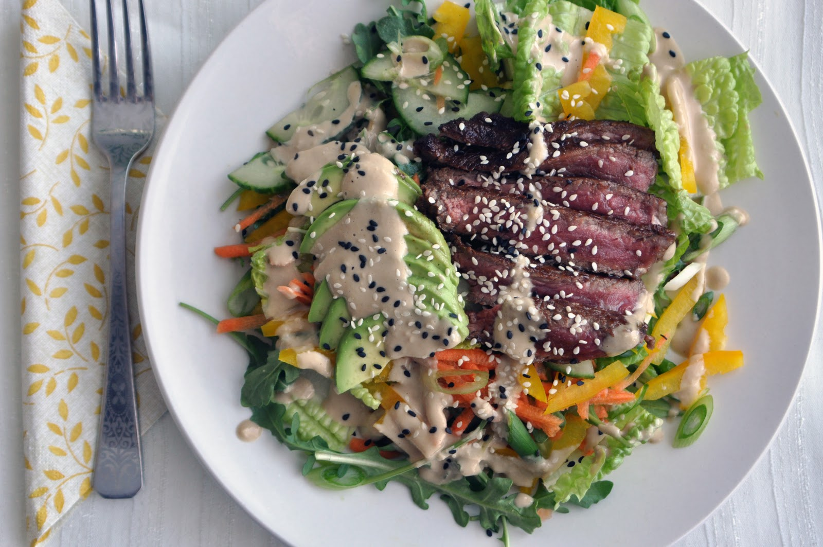 ... meal grilled steak salad with pineapple ginger dressing recipe key
