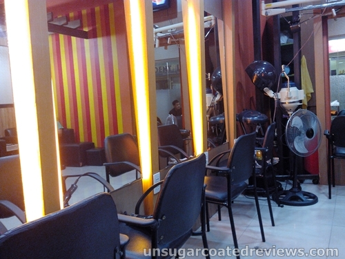 interiors of Orange Blush Salon Mother Ignacia branch