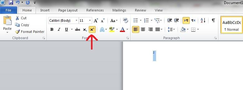 How To Insert The Squared Symbol In Word