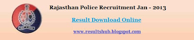 Rajasthan Police Constable Exam Results 2013 Of Driver/GD