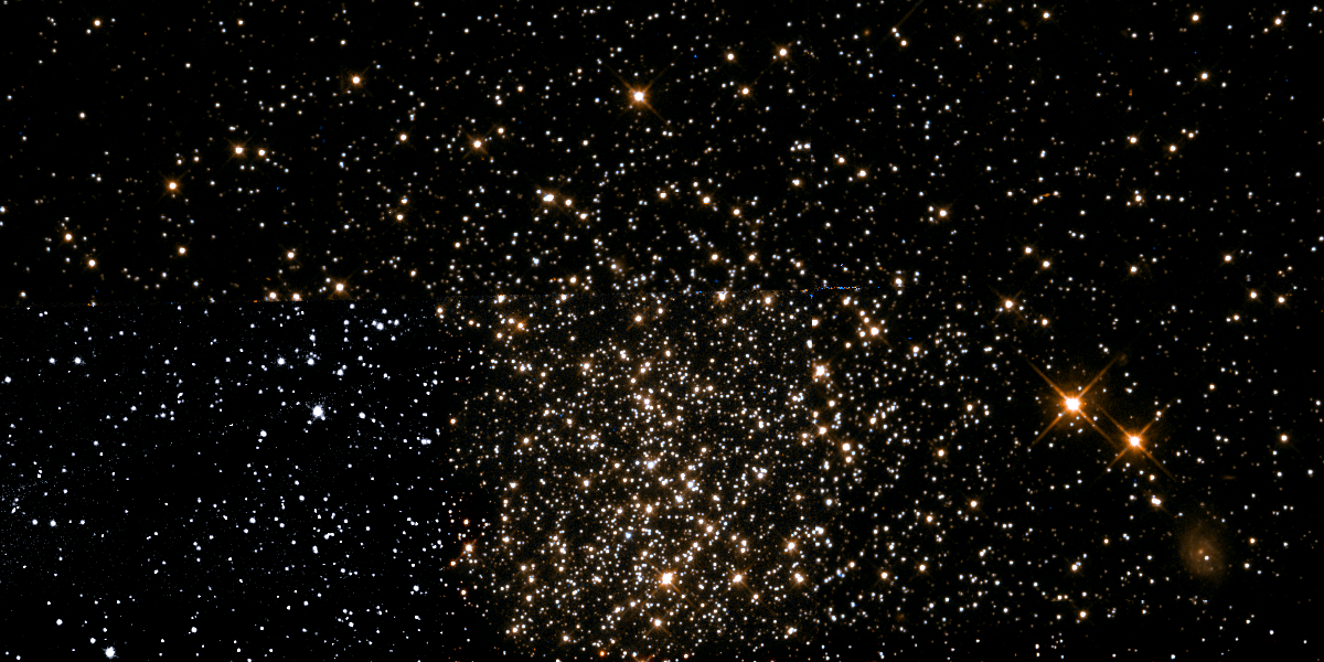 NGC 1615, a middle-age star cluster located in the Large Magellanic Cloud, contains stars that are of a more uniform age than previously believed. (Image: NASA/ESA Hubble Space Telescope/Fabian RRRR)