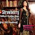 Strawberry Chiffon Collection 2014 For Eid Festival - Feel Strawberry Eid Dresses 2014-15