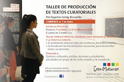 Taller de Producción de Textos Curatoriales a cargo de Eugenia Garay Basualdo