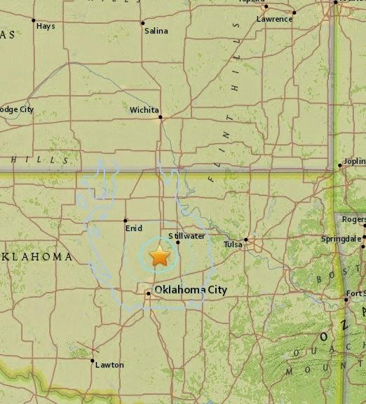 Magnitude 4.1 Earthquake of Langston, Oklahom 2015-04-27