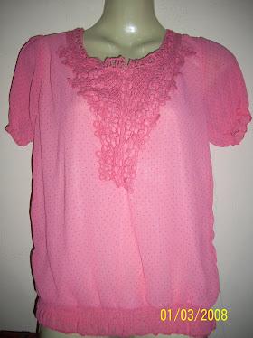 Pink Pocodot Short Blouse - FR 04
