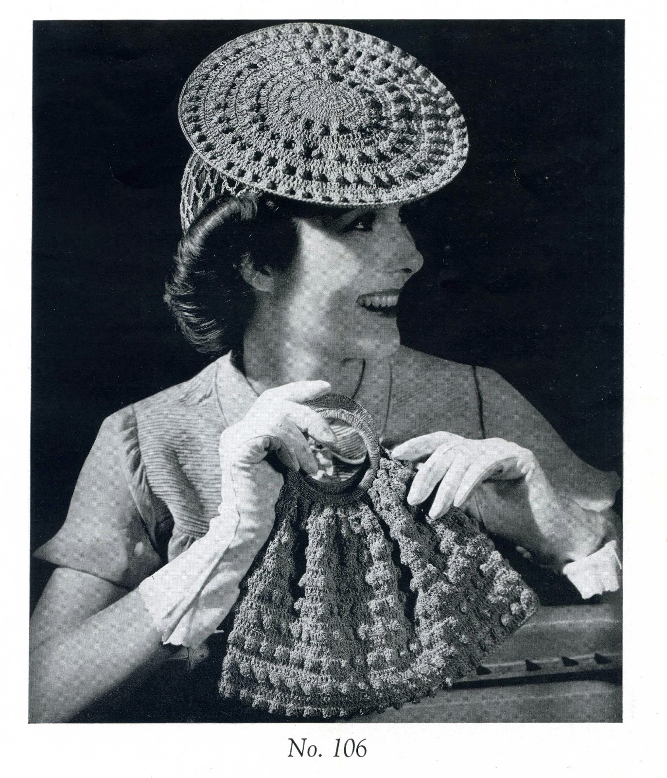 Here is a vintage pattern from my collection the hat is called a hoop