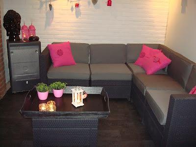 Nieuwe kussens voor loungeset