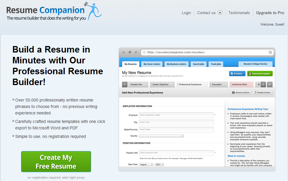 Registration key for resume builder 4 8