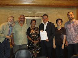 Proclamación de la Directiva de la Asociación Venezolana de Estudios del Caribe 2012-2014