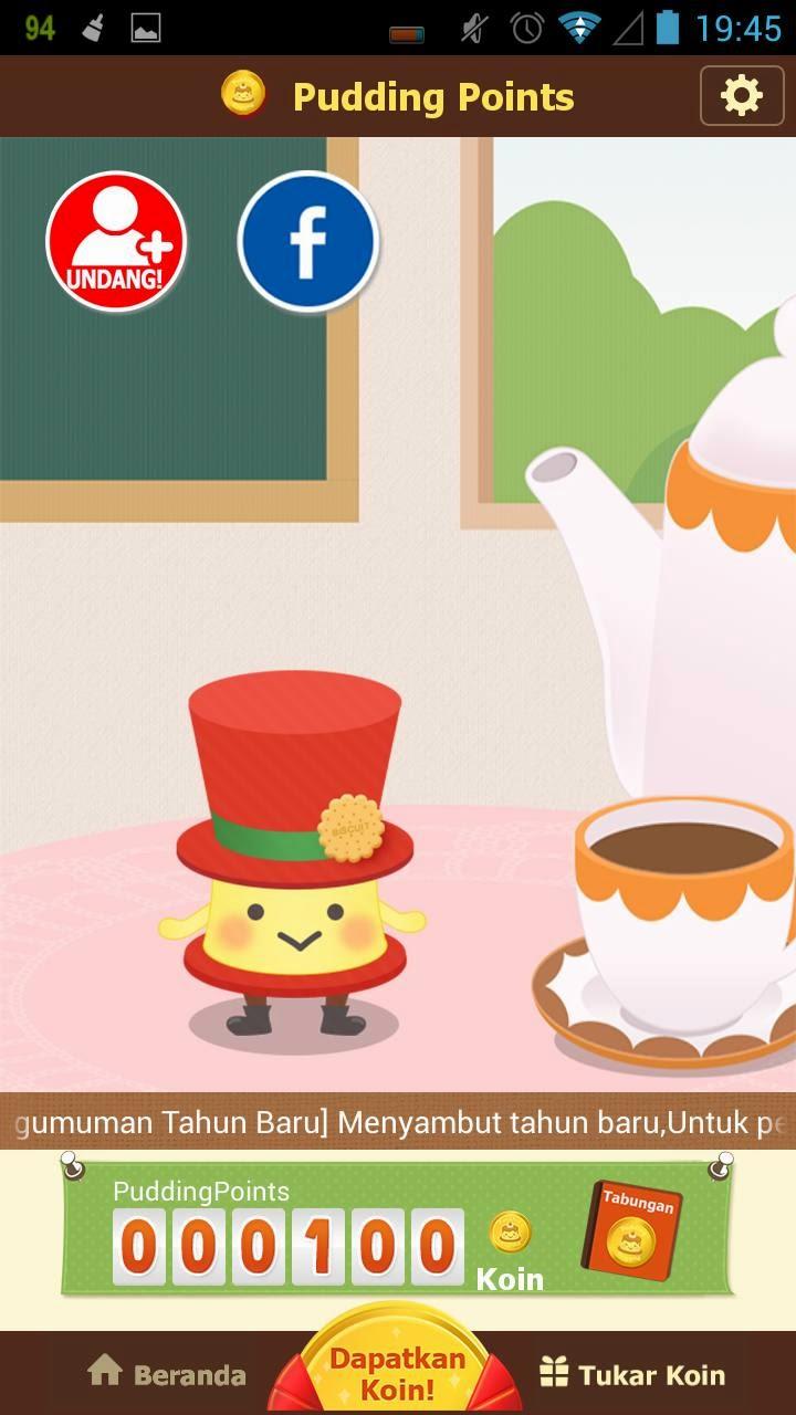 Cara Mendapatkan Pulsa Gratis Dari Aplikasi Android Pudding Points