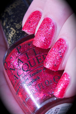Swatch of OPI The Impossible, Liquid Sand, Mariah Carey collection,bilder, nail polish, blogg nagellack