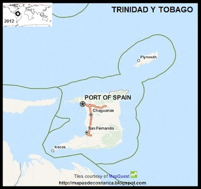 TRINIDAD Y TOBAGO, Mapa de TRINIDAD Y TOBAGO, OpenStreetMap