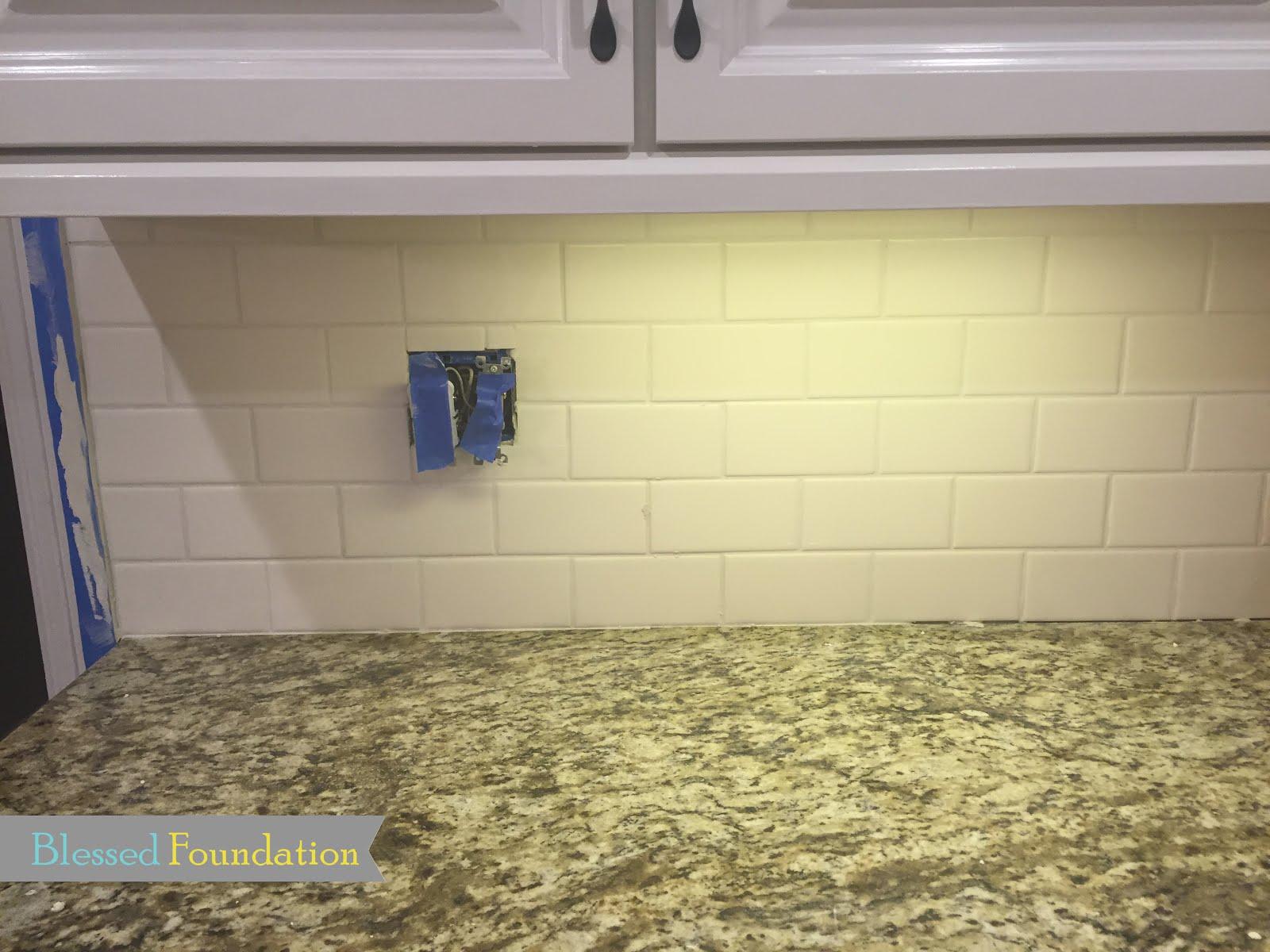 blessed foundation post 41 kitchen backsplash step 8 caulk along the counter