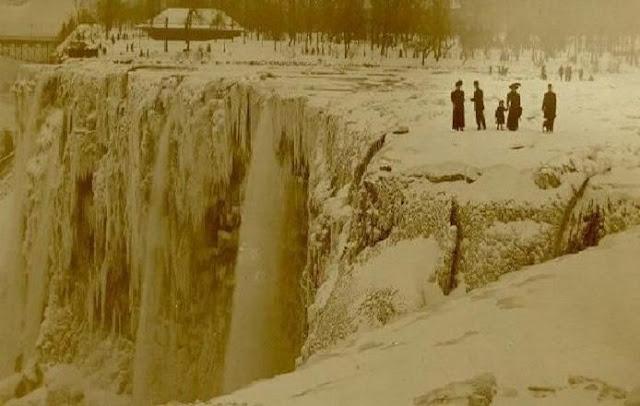 Cataratas do Niágara congelada em 1886