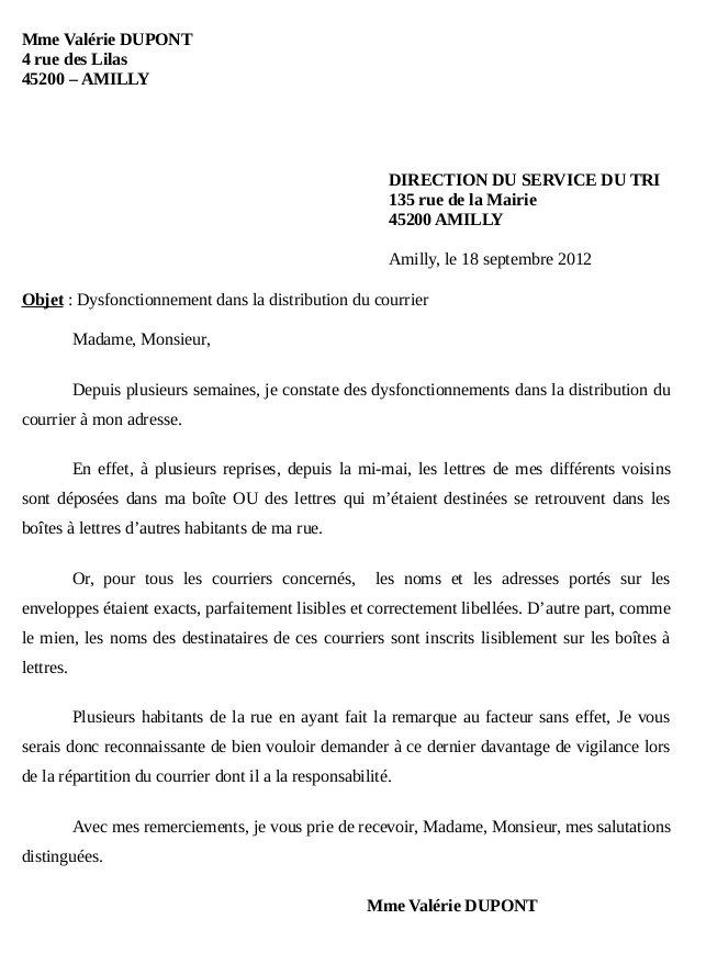 sample cover letter  exemple de lettre officielle administration