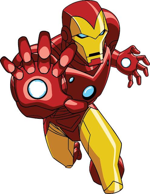 Os Vingadores Homem de Ferro em desenho animado