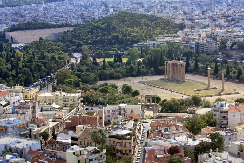 Temple of the Olympian Zeus in Athens