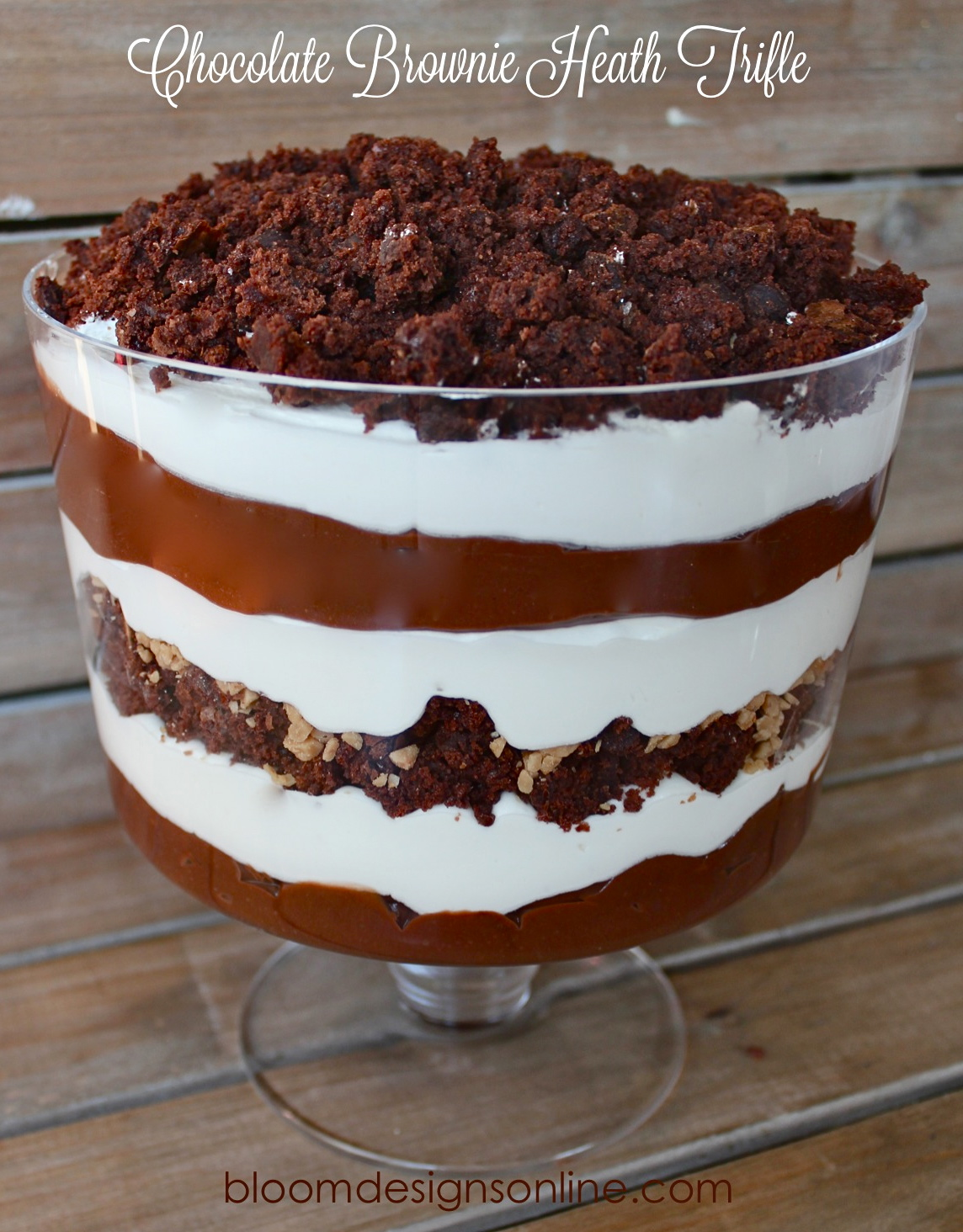 Chocolate Brownie Heath Trifle - Bloom Designs