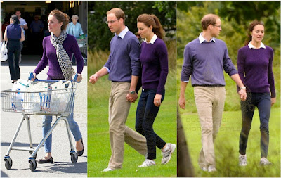 Kate middleton purple knit sweater