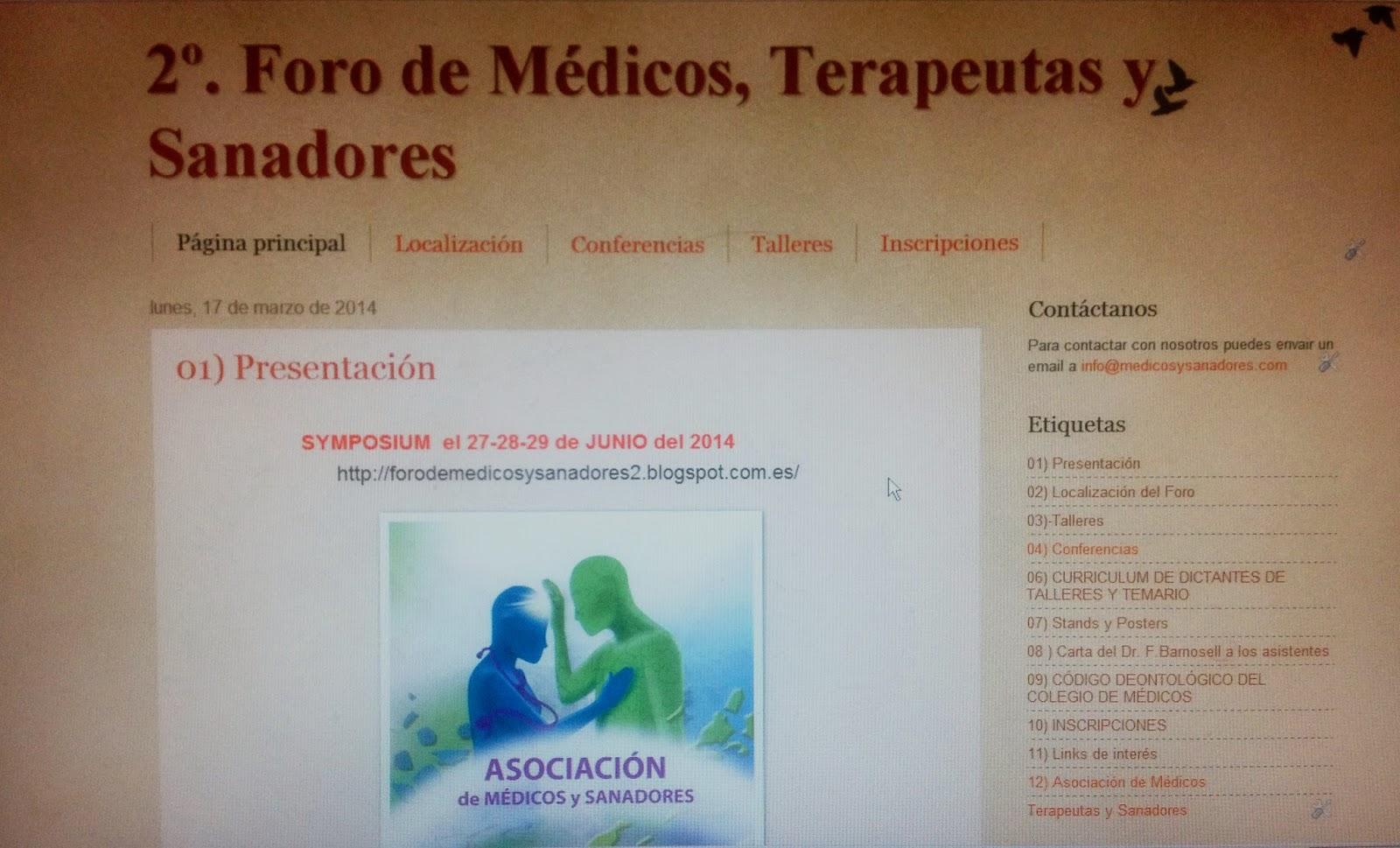 1er. Foro de Médicos y Sanadores 2013