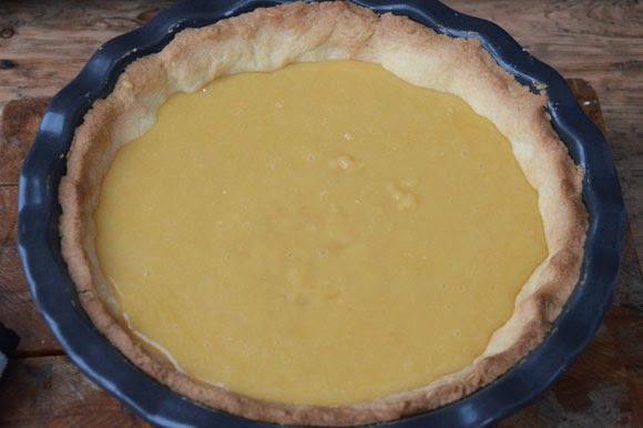 Citroen merengue taart
