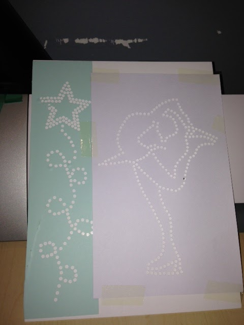 My Silhouette Cameo Of Rhinestones And Template Materials - How to make rhinestone templates