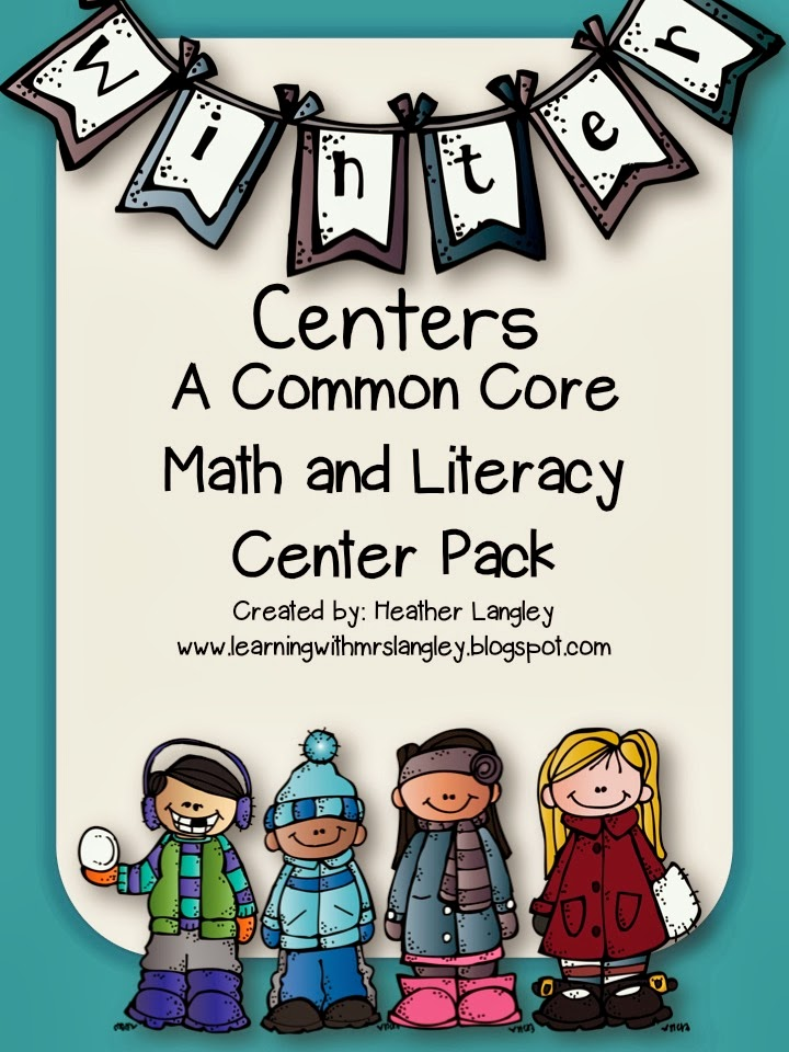 http://www.teacherspayteachers.com/Product/Winter-ELA-and-Math-Centers-993113