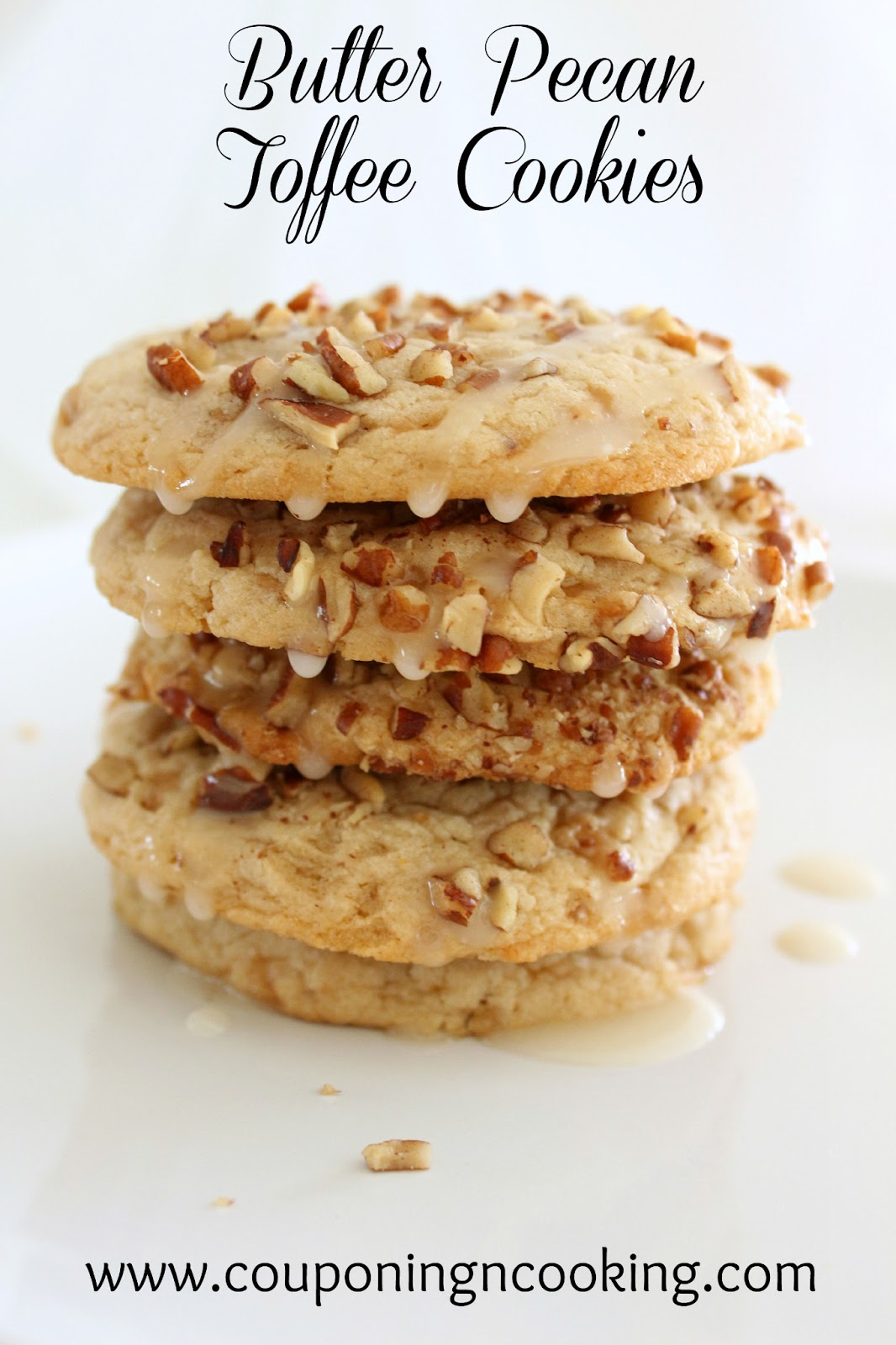 Couponing & Cooking: Glazed Butter Pecan Toffee Cookies