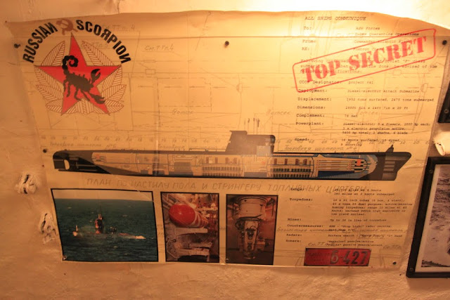 Top Secret notice posted on the wall in the Russian Scorpion Submarine at Long Beach, Los Angeles, California, USA