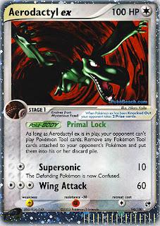 Aerodactyl ex Pokemon Card EX Sandstorm Set
