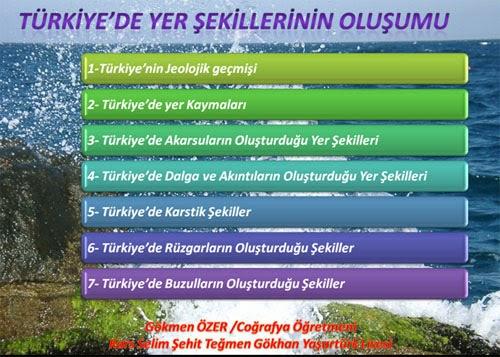 T�rkiye'de Yer �ekillerinin Olu�umu - Sunu