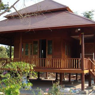Desain Rumah Kayu Modern Yang Antik 1