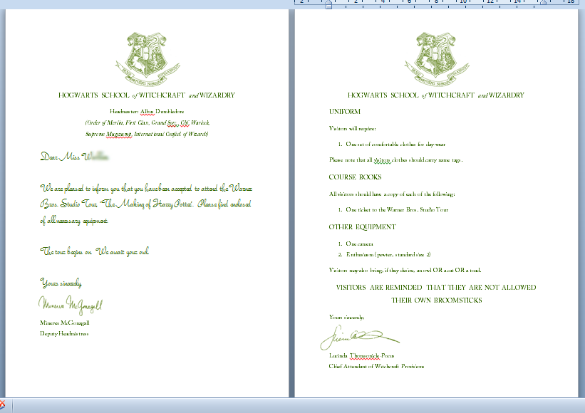 totally typically  how to make a hogwarts acceptance letterthe original letter can be found here  or you can always use it as an excuse to dig out and re  the philosopher    s stone  if you need an excuse